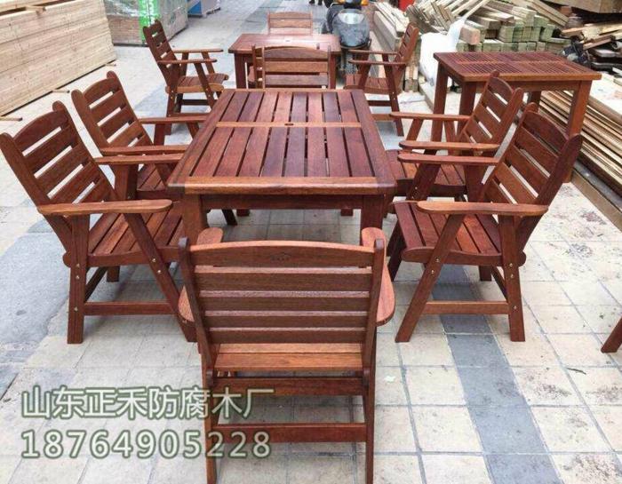 户外小品15-木桌椅系列-防腐木桌椅系列-山东正禾防腐